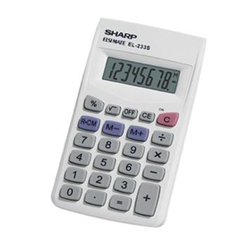 Sharp EL-233SB calcolatrice Tasca Calcolatrice di base Bianco
