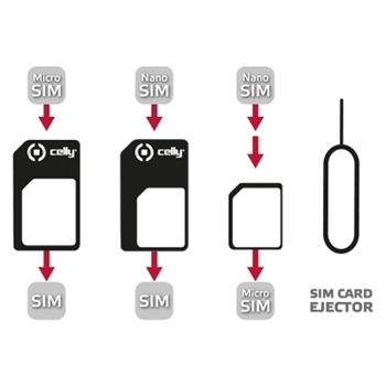 Celly SIMKITAD adattatore per SIM/flash memory card Adattatore scheda SIM