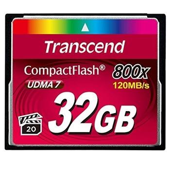 Transcend TS32GCF800 memoria flash 32 GB CompactFlash