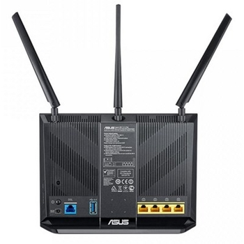 ASUS DSL-AC68U router wireless Dual-band (2.4 GHz/5 GHz) Gigabit Ethernet 3G Nero