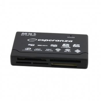 Esperanza EA119 lettore di schede USB 2.0 Nero