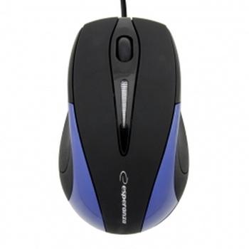 ESPERANZA EM102B - 5905784767048 ESPERANZA EM102B SIRIUS - Wired Mouse Optical USB 800 DPI Niebieska BLISTER