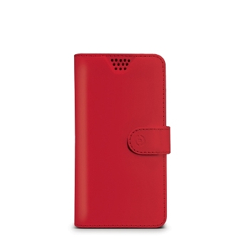 """Celly WALLYUNIMRD custodia per cellulare 10,2 cm (4"""") Custodia a borsellino Rosso"""