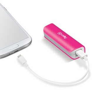 Celly Li-Ion 2600mAh batteria portatile Ioni di Litio Rosa