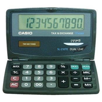 Casio SL-210TE calcolatrice Tasca Calcolatrice di base Nero