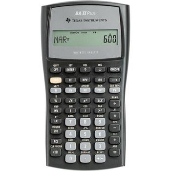 Texas Instruments BA-II Plus calcolatrice Tasca Calcolatrice scientifica Nero