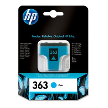 HP INK CARTRIDGE NO 363 CYAN DE/FR/NL/BE/UK/SE