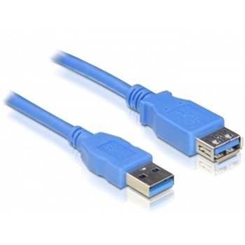 DeLOCK USB 3.0-A M/F - 2m cavo USB USB A Blu