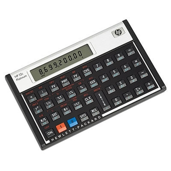 HP 12c calcolatrice Scrivania Calcolatrice finanziaria Alluminio, Nero