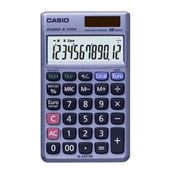 Casio SL-320TER calcolatrice Tasca Calcolatrice finanziaria Grigio