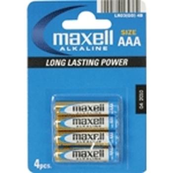 Maxell Battery Alkaline LR-03 AAA 4-Pack Batteria monouso Alcalino