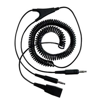Jabra PC cord - QD to 2x3.5mm 2 x 3.5mm jack Nero