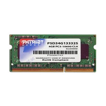 Patriot Memory 4GB DDR3 SODIMM memoria 1333 MHz