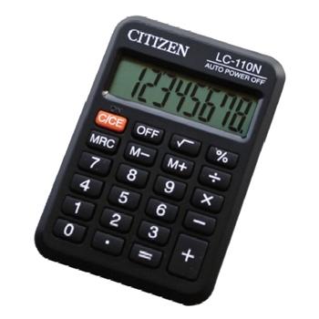 Citizen LC-110N calcolatrice Tasca Calcolatrice di base Nero