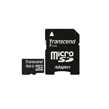 TRANSCEND 4GB MICROSDHC(1 ADAPTER)