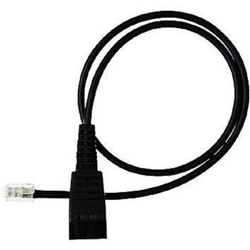 Jabra QD cord, straight, mod plug RJ11 Nero