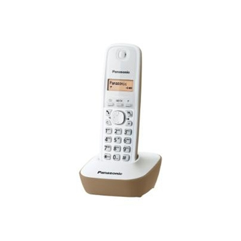 Panasonic KX-TG1611 Telefono DECT Beige, Bianco Identificatore di chiamata
