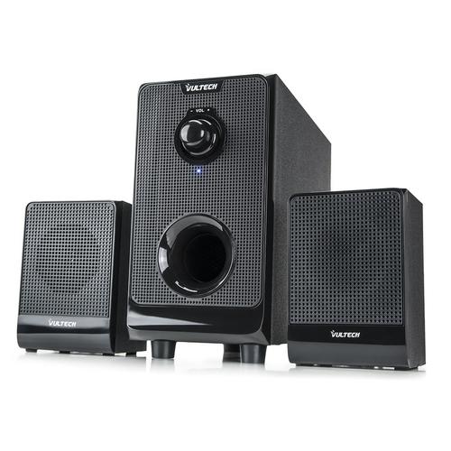 Casse acustiche attive vultech 2 1 sp 2008 speaker set 22w rms design elegante sub in legno - Casse acustiche design ...